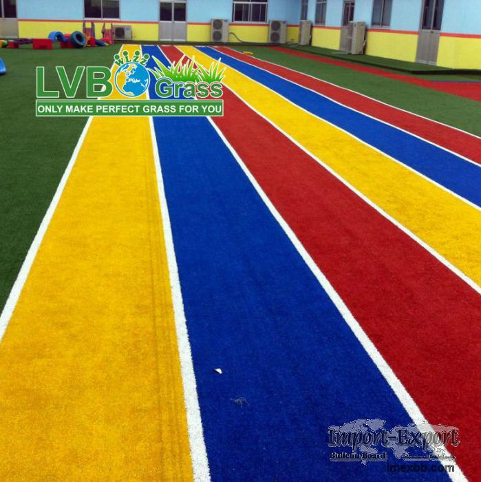 Big sales of Rainbow artificial grass/ turf for playground