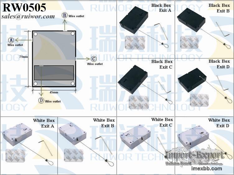 RW0505 Cuboid Anti Theft Pulling-box with Adjustalbe Lasso Loop