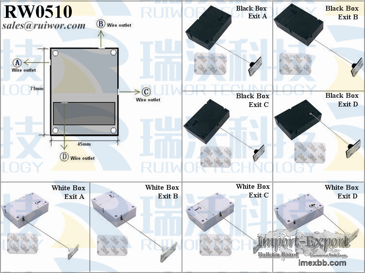 RW0510 Cuboid Pull-boxes with 25X15mm Rectangular Adhesive ABS Plate