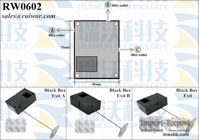 RW0602 Security Pull Box Plus Ratchet Function and Adhesive ABS Plate