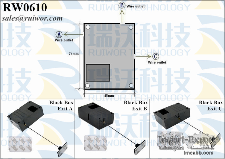 RW0610 Cuboid Secure-pull Boxes Plus Ratchet Function Adhesive ABS Plate
