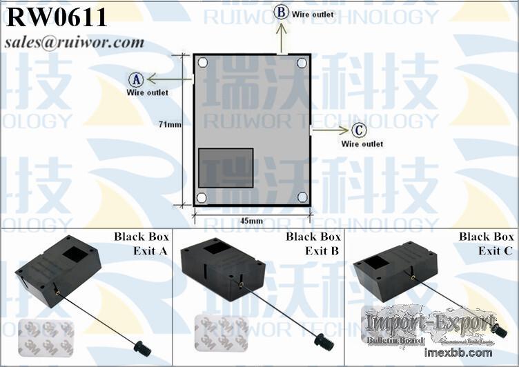 RW0611 Cuboid Security Puller Plus Stop Function M6/M8 Flat Head Screw