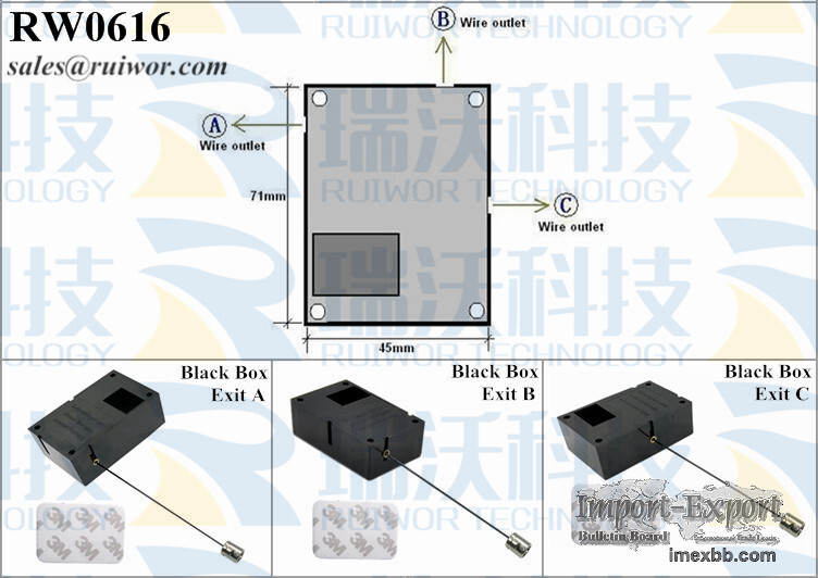 RW0616 Cuboid Retractable Pulling-box Plus Stop Function Side Hole Hardwar
