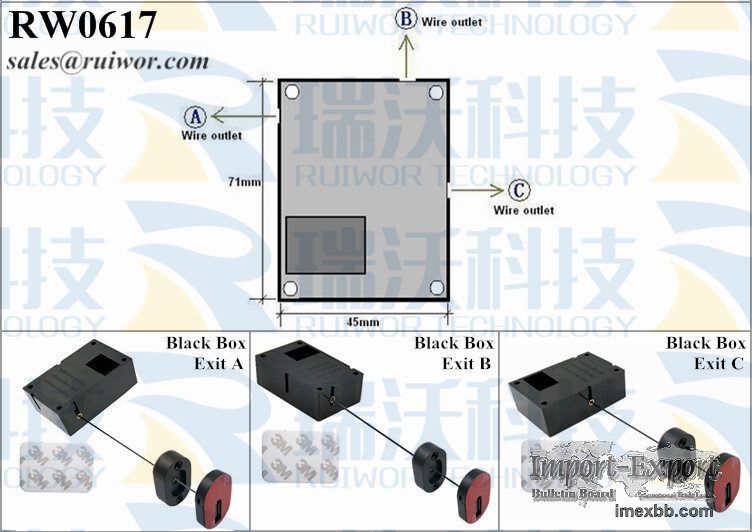 RW0617 Cuboid Retracted Pull-box Plus Pause Function Magnetic Holder