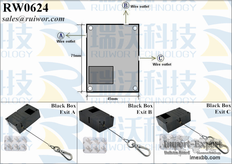 RW0624 Cuboid Retractable Pull Box Security Plus Stop Function and Key Hook