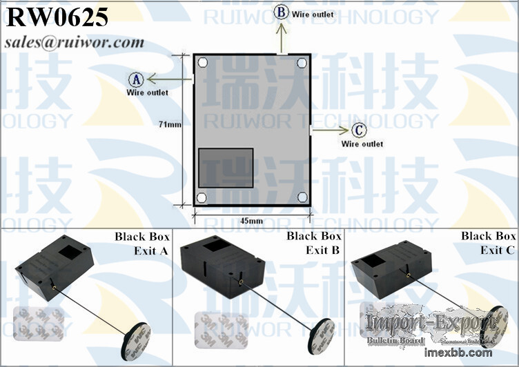 RW0625 Cuboid Display Security Retractable Pull Box Plus Pause Function