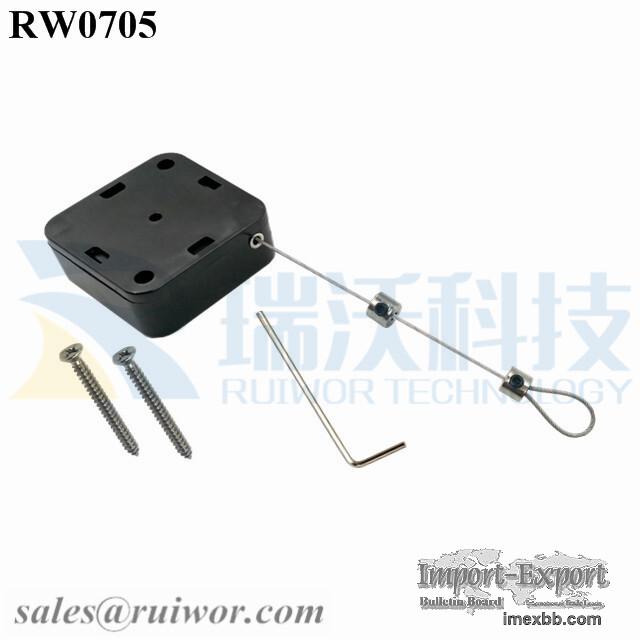 RW0705 Square Heavy Lanyand for Pull Box Plus Adjustalbe Lasso Loop