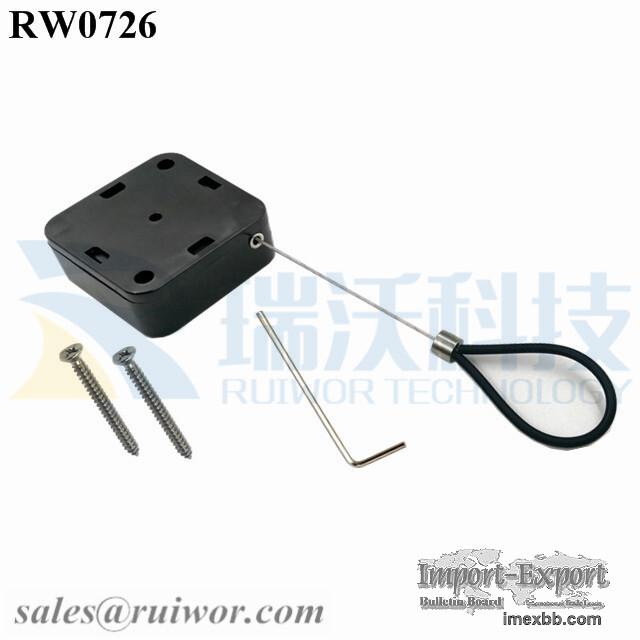 RW0726 Square Heavy Retractable Pulley Steel Plus Adjustable Wire Loop