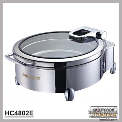 HC4802E  Round hydraulic induction chafing dish,food warmer