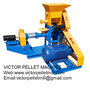 fish feed extruder machine making floating and sinking feed pellet