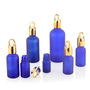 Latest New Design 20Ml 100Ml Cobalt Blue Bottles Cosmetic Essential Oil Dro