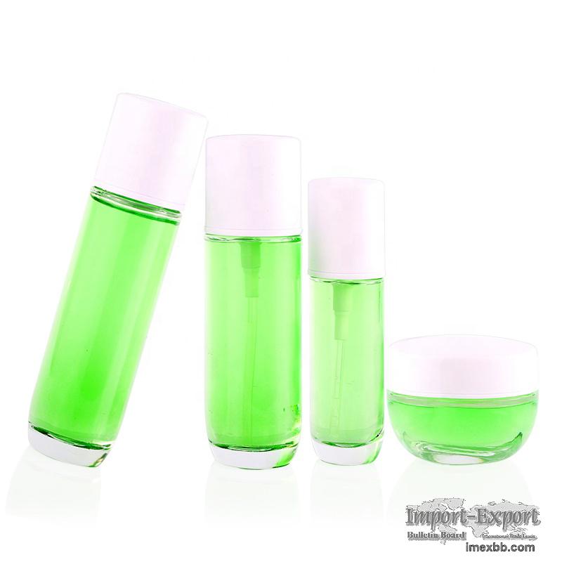 New Bottles Sets Pump Cosmetic Glass Packaging Bottle Set BrandQiaojun Gla