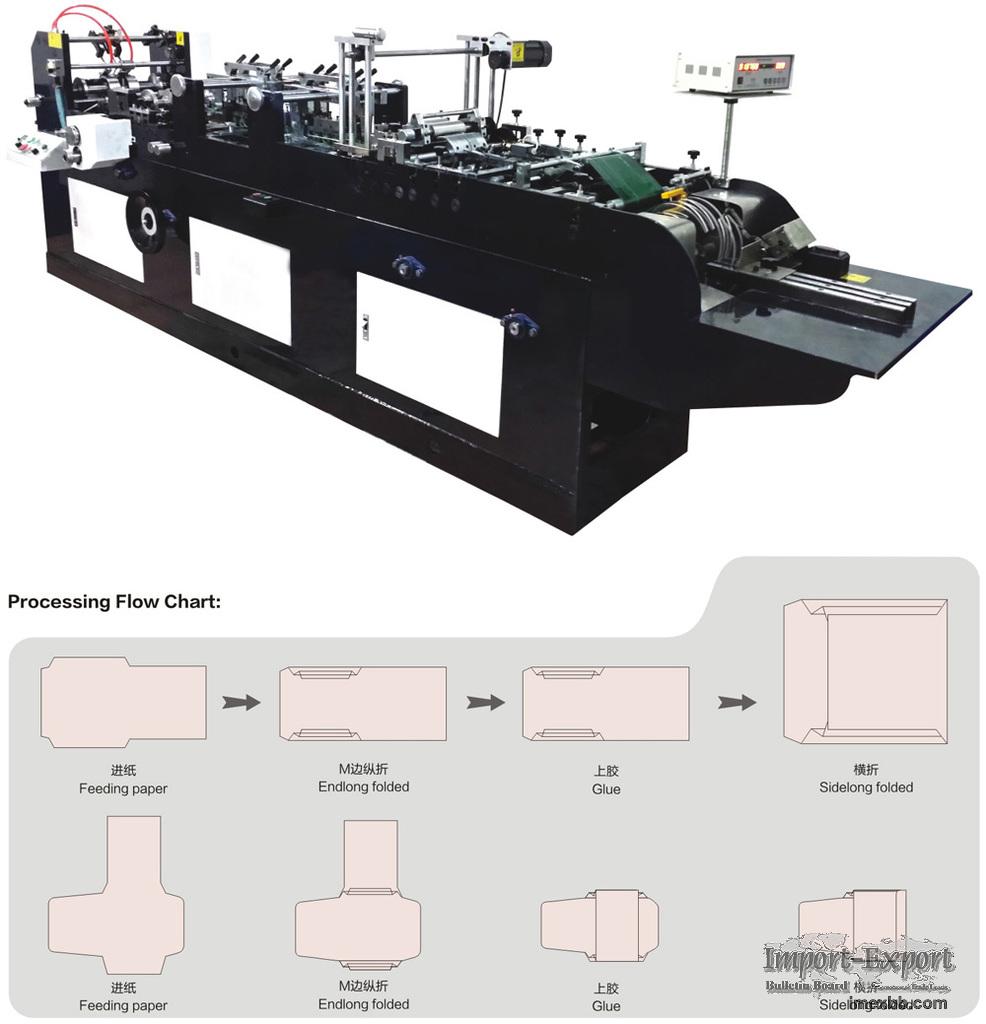 "Auto Double-deck ""M"" Sides Envelope Making Machine Model ZF-90"