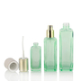 Popular Square Lotion Bottles Skin Care Containers Sets Glass Cosmetic Bott