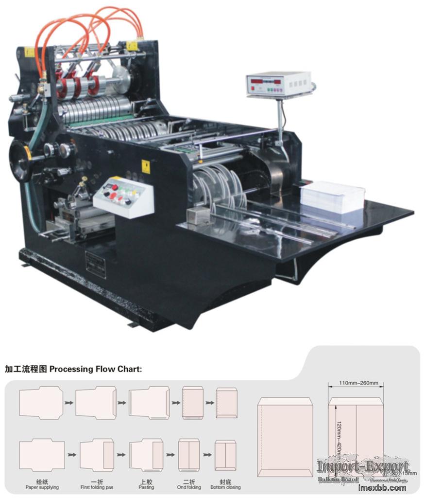 High Speed Envelope & Paper Bag Making Machine Model WF-180