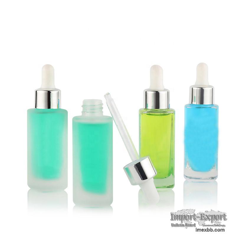 Newest Transparent Luxury 30Ml Glass Serum Perfume Bottle