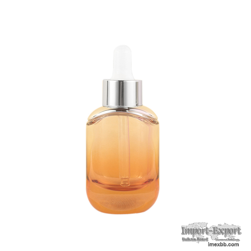 Fashionable 30Ml Skincare Cosmetic Dropper Glass Bottle For Serum