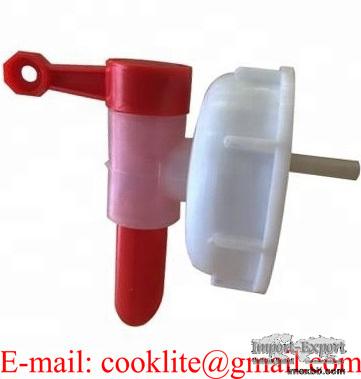 Kran med kapsyl för 71mm gänga / Lock med tappkran till 60 liters dunk