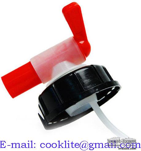 Tappkran med kapsyl / Tappkran och hällpip för dunk 58mm