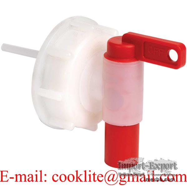 DIN 51 skruelåg med afløbshane / Låg med aftapningshane DIN 51