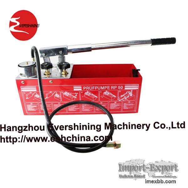 manual pressure test pump