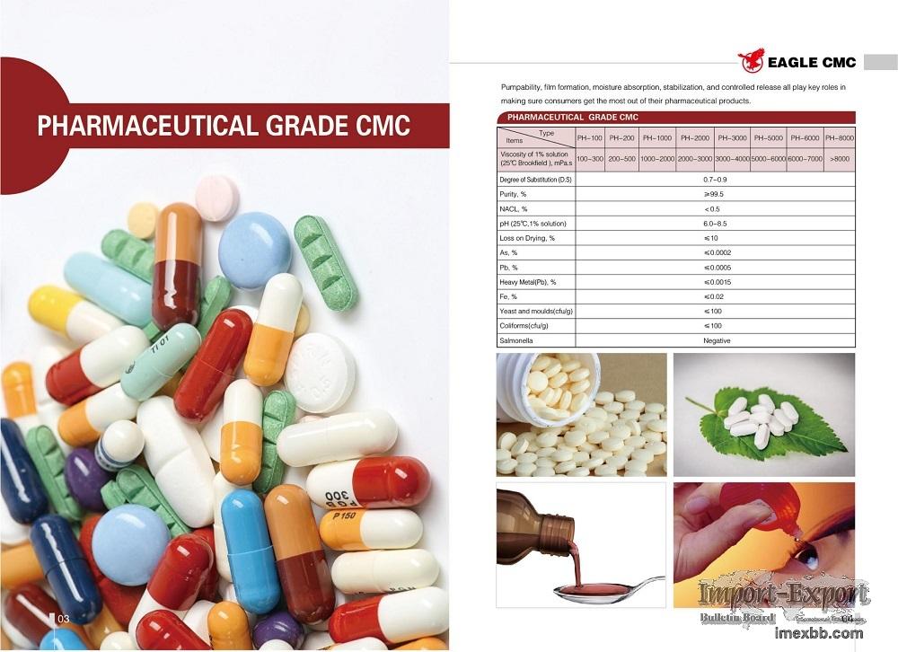 Pharmaceutical Grade Sodium CMC, Carboxymethyl Cellulose