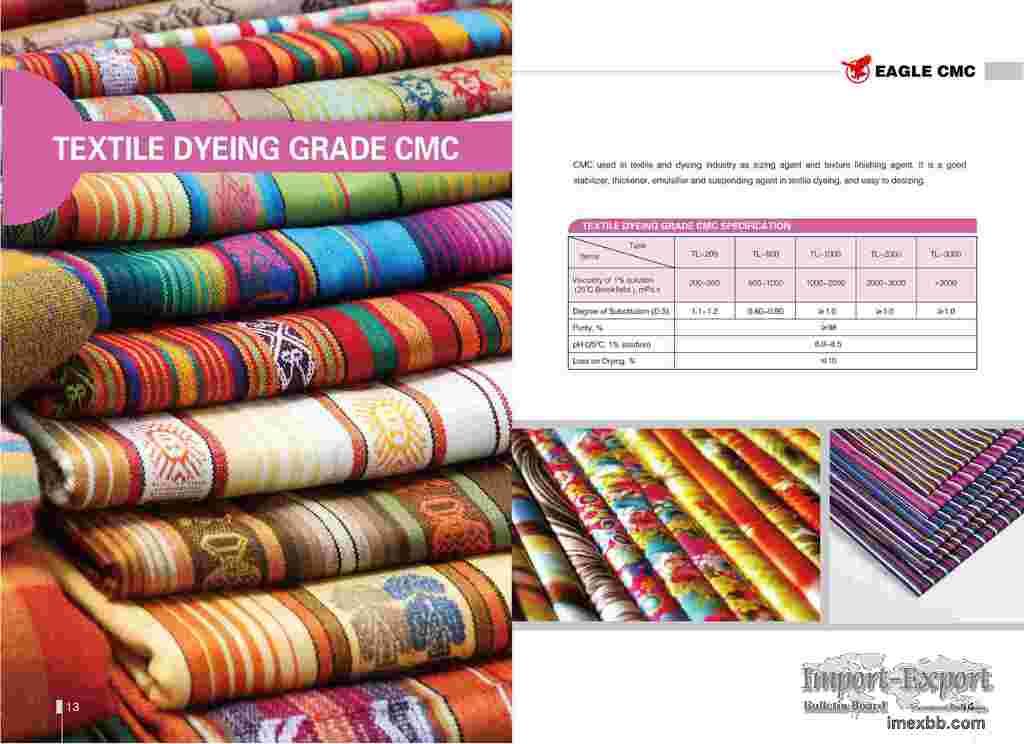Textile Grade CMC, yarn sizing agent, stabilizer, thickener