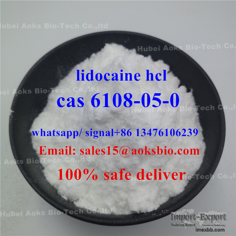 hubei AOKS factory sell lidocaine hcl,cas 6108-05-0 in manufacture price