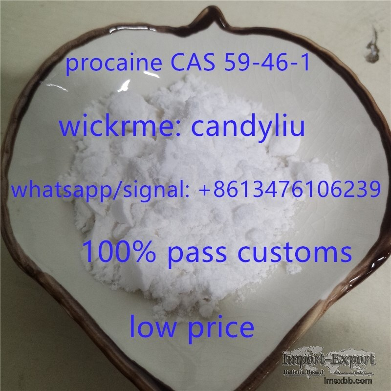 two years warranty, factory price for procaine 59-46-1,call+8613476106239