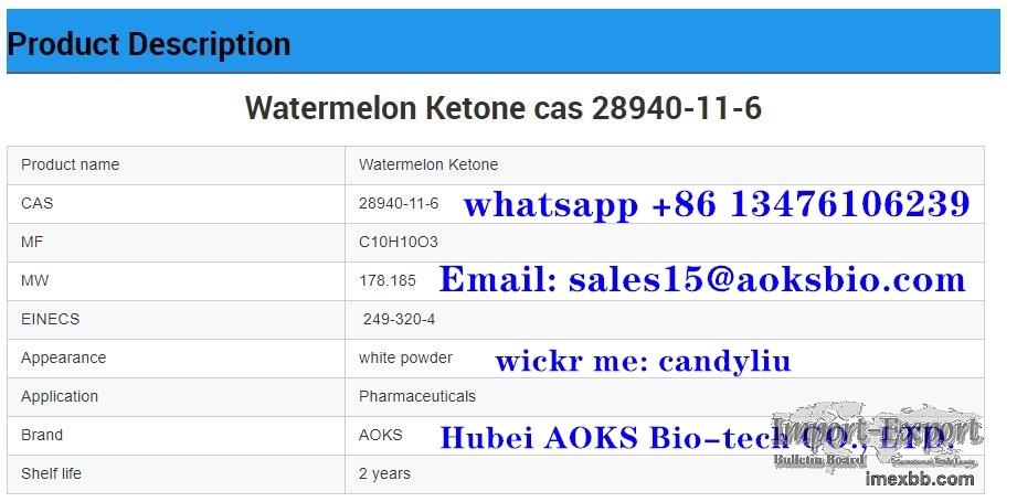 AOKS factory supply watermelon ketone cas 28940-11-6,sales15@aoksbio.com