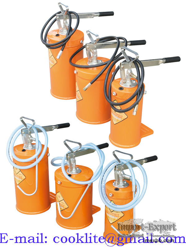 Hand Operated Bucket Grease Pump Gear Lube Dispenser - 5/10/16L