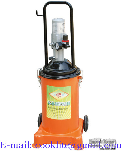 Air ratio High Pressure Grease Bucket Pump 15L Pneumatic Operated Greaser