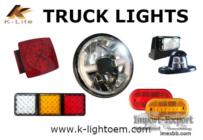 Truck light Tail light Combination light, Brake light Side marker