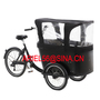 Family use cargo bike 3 wheel Bicycle with cabin for carrying children