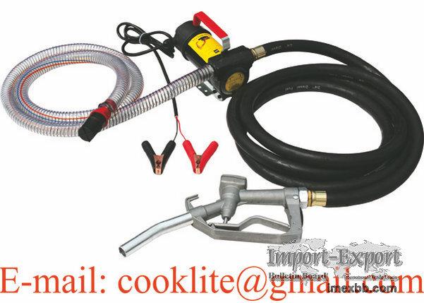 Diesel Kerosene Transfer Pump Kit DC Portable Fuel Dispenser Self Priming