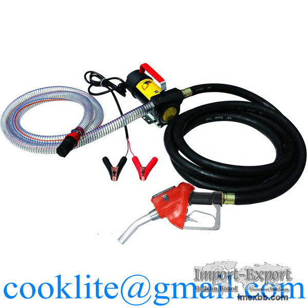 Fuel Dispenser Electric Oil Diesel Transfer Pump with Metering Fuel Nozzle