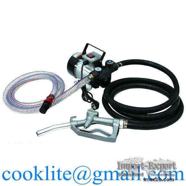 Electric Diesel Fuel Transfer Pump Kit AC 550W Mobile Oil Fuel Dispenser