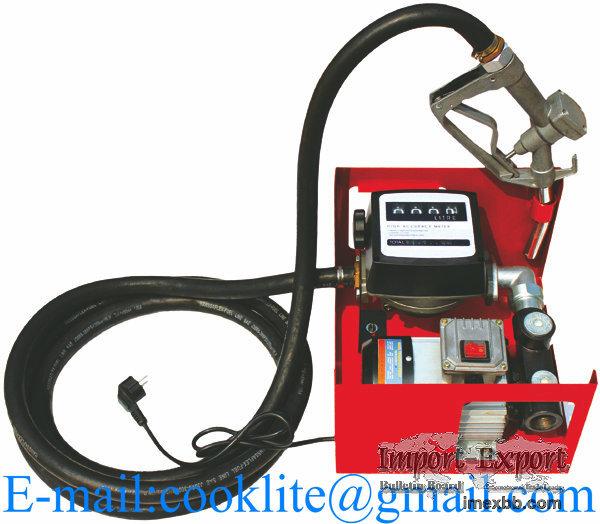 AC Metering Diesel Fuel Transfer Pump Kit 550W 60L/Min Mini Gas Station