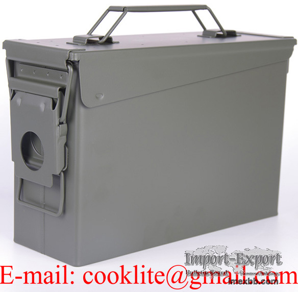 M19A1 30 Cal Military Surplus Ammo Can Waterproof Steel Ammunition Box