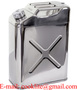 304 Stainless Steel Jerry Can 20L Water/Fuel Storage Transport Motorbike