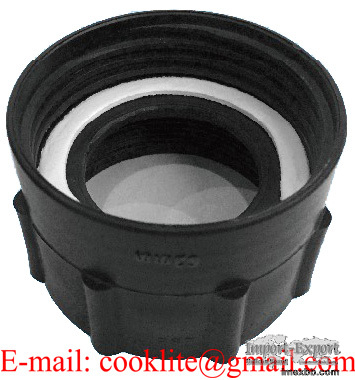 """PP IBC Tote Tank Adapter/Fitting 63mm Female to 2"""" BSP Female Plastic Drum"""