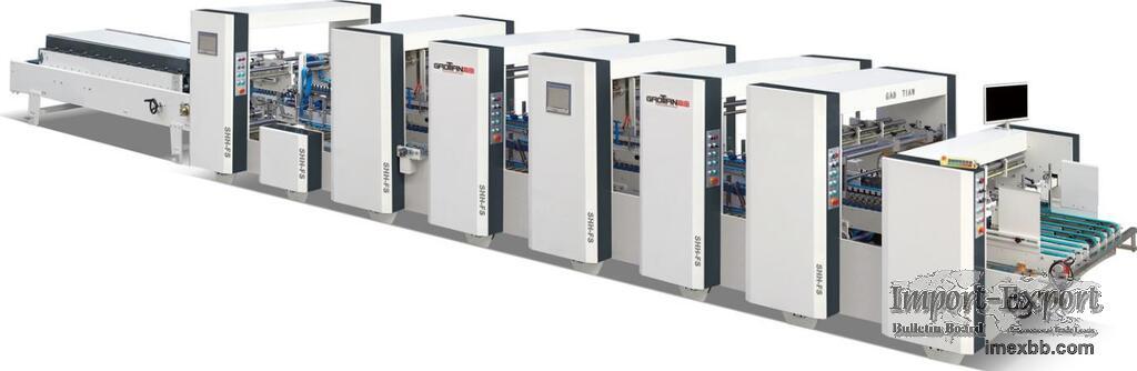 Automatic High-speed 4&6 Corner Folder Gluer Model SHH-1050FS
