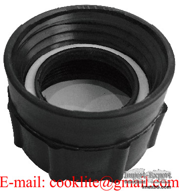 PP IBC Tote Tank Adapter/Fitting DIN61 Female to 2 BSP Female Drum Coupling