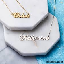 leter pendent necklace
