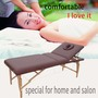 portable massage table with adjustable backrest