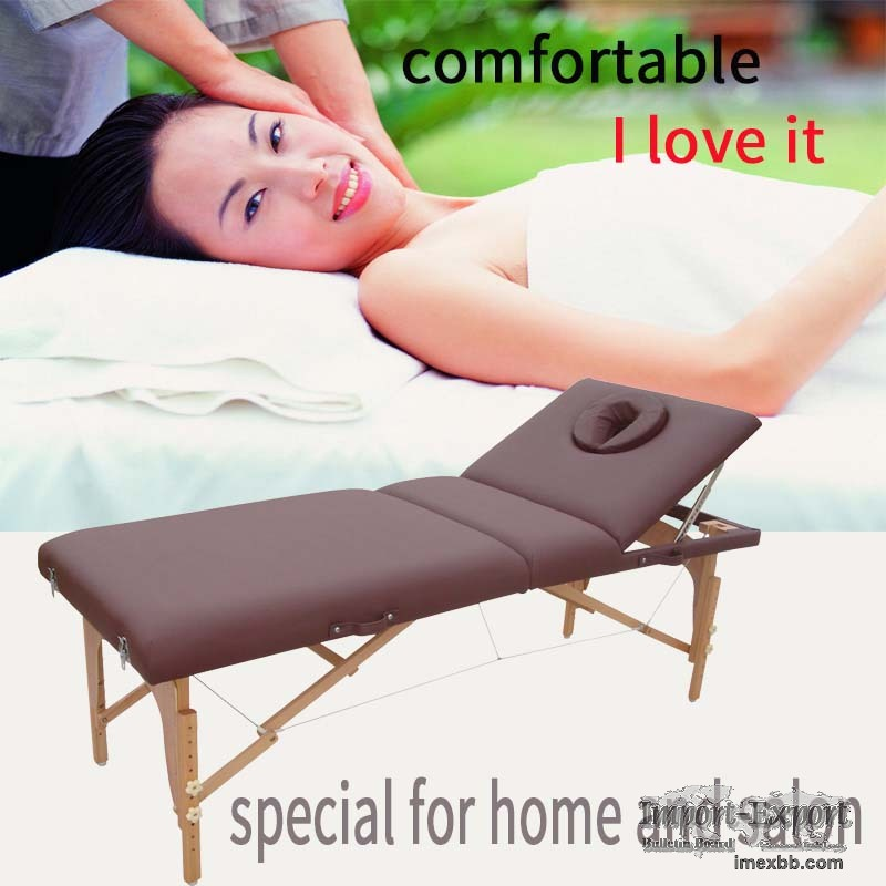 portable massage table with adjustable backrest