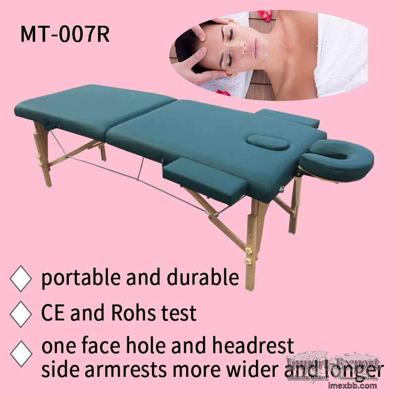 portable massage table with adjustable headrest