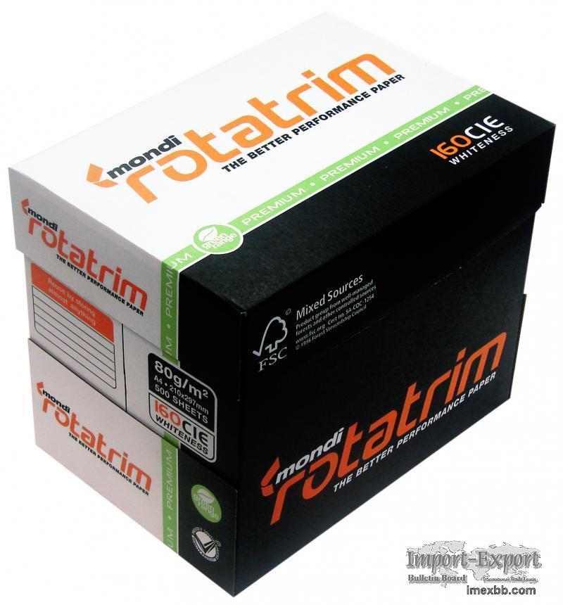 Mondi Rotatrim Copy Paper 80gsm 500 Sheets $4/Box 2500 sheets