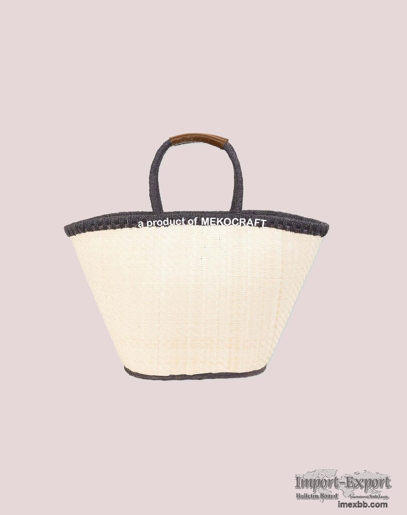 Palm leaf white bag