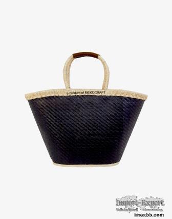 Palm leaf black bag